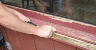 Peeling paint for painting a house Thornton.